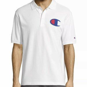 Champion Polo Big C Logo Chenille Short Sleeve